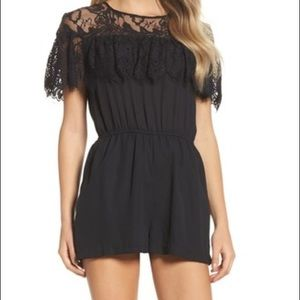 BB DAKOTA black lace romper